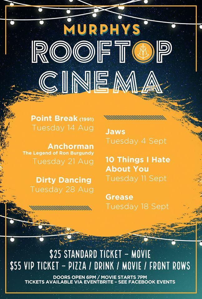 Murphy's Roof Top Cinema is here!!